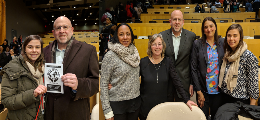 Board Members at Social Work Day at the UN, April 1st 2019